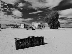 gary's couch on route 66.... (BillsExplorations) Tags: california blackandwhite abandoned monochrome vintage bench lost route66 ruins decay gasstation couch sofa forgotten gary danby fillingstation benchmonday