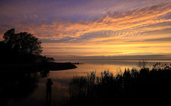 Fishing (Note-ables by Lynn) Tags: fishing skies georgianbay shoreline sunsets leith ontariolandscape