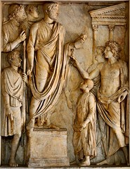 Ancient Rome. Donation of food to Roman children. Relief panel from the so-called the Arch of Portugal on via Lata. Marble. 2-nd cent. A.D. Rome, Capitoline Museums. (mike catalonian) Tags: sculpture rome relief marble ancientrome 2ndcenturyad archofportugal