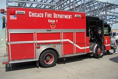 Somemore snap shots of the 5-11 Muster in Chicago 6/18/16. (Chicago Rail Head) Tags: fireapparatus oldnew firetrucks displays demonstationsrides classicfiretruck latestinservice getcloseup the511club cfd chicagofireacademy firemuseumofgreaterchicago