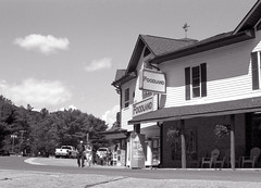 Dorset Foodland_ (Bill Smith1) Tags: billsmithsphotography canonf1n dorseton fdn50f14lens hc110b ilforddelta100 july2016 lakeofbays muskoka filmshooterscollective