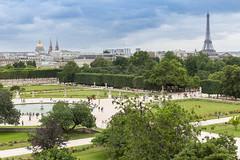 Blick ber Tuileries Garden in Paris (wuestenigel) Tags: france euro2016 frankreich uefa toureiffel eiffelturm tuileriesgarden em2016 paris