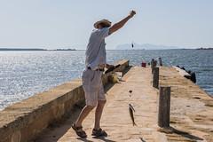 DSC_5621 (Pasquesius) Tags: sea island fisherman dock mare lagoon sicily laguna saline molo sicilia pescatore saltponds isola marsala mozia mothia stagnone motya riservanaturaledellostagnone