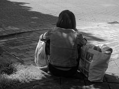 Sitting 2 (p.franche malade - sick) Tags: brussels urban blackandwhite woman blanco monochrome europe sitting belgium belgique noiretblanc femme negro snapshot bruxelles panasonic dxo brussel zwart wit hdr streetshot 白黒 assise belgïe schwarzweis mustavalkoinen inbiancoenero svartochvitt flickrelite أبيضوأسود bestofbw fz200 μαύροκαιάσπρο pascalfranche pfranche skancheli שוואַרץאוןווייַס 黑白чернобелоеизображение