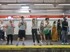 P1370168 (electrachrome) Tags: mbta parkstreet redline commuting strangers