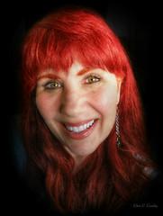 Smiling Through It All (Chris C. Crowley) Tags: woman selfportrait me smiling redhead birthdayshot selfie smilingthroughitall chriscrowley 60thbirdthdaypic