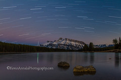 TwoJacktwilight (1 of 1) (KevinAnnalaPhotography) Tags: two lake night jack photography star long exposure lakes trails banff banffnationalpark