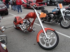 2005 Graves Custom Cycles soft tail (cjp02) Tags: 2005 show school plant hot classic car bike truck vintage high soft lafayette harrison tail indiana graves motorcycle rod custom veteran fairfield cycles oerlikon manufacturing
