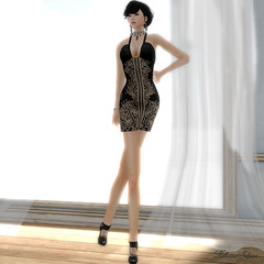 LIV-Glam gift dress (Rehana Seljan / MISS V Hong Kong 2013) Tags: fashion tram event secondlife rehana freebie alienbear reogskin livglam
