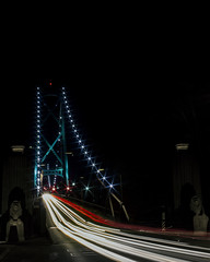 Traffic Lions Gate Bridge 3 (insomniac199) Tags: nightphotography bridge vancouver gate long britishcolumbia lions exposures