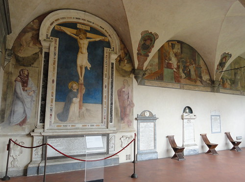 Frescoes of Fra Angelico in Cloister of Sant