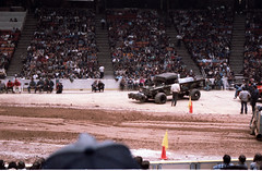 IMG_0050 (Nighthauler Photography) Tags: tractor cars truck pull meadowlands arena crushing bigfoot sled weight