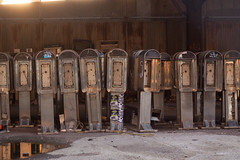 This Technology Has Been Disconnected or is No Longer In Service (FreeVerse Photography) Tags: graveyard junk gothamist 20thcentury thepast payphones oldtime discards oldtechnology unused oldphones