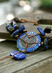 Ancient Protector Lapis Necklace - Blue - Bohemian Jewelry, Earthy Urban Chic Jewelry by YaY Jewelry 3 (Kristin Oppold / YaY! Jewelry) Tags: wood modern necklace jewelry earthy organic bohemian lapis minnestoa urbanchic dumortierite yayjewelry kristinoppold
