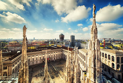 The View (Ognen Bojkovski) Tags: sky urban italy milan church colors beautiful architecture clouds rural buildings square photography high nikon view angle cathedral top religion review wide cityscapes duomo nikkor pillars creed d800 assassins ognen 1424mm obojkovski bojkovski