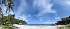 Ao Leuk Panorama (Benji P. Photo) Tags: sky panorama cloud sun hot beach thailand island sand warm paradise ao koh tao leuk