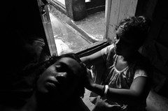 Facing one's own (shankarsarkar) Tags: portrait india selfportrait me face blackwhite women mother relationship kolkata intimacy westbengal sonagachi redlightarea trafficked