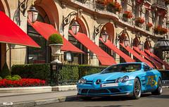 Mercedes SLR 722 (darkoos) Tags: paris slr canon photography mercedes benz hotel turquoise s bleu mclaren edition supercar matte qatar roadster v12 722 550d
