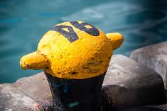 the fat cousin (rquitos) Tags: black yellow pier e bollard rquitos