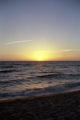 Sunset on First Encounter Beach, Eastham Ma (davegardner0) Tags: sunset 120 film beach ma fuji kodak first cape 6x9 100 cod encounter eastham ektar gw690