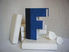 ALPHABET LETTER (F)  Book Art,