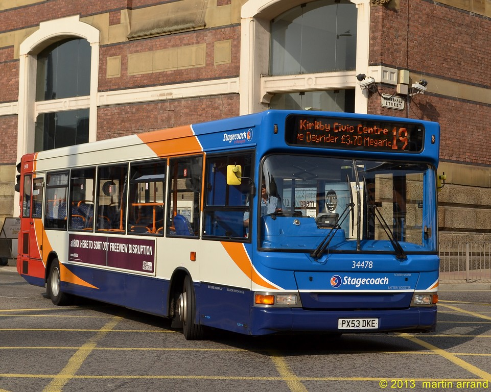 PX53DKE 34478 stagecoach liverpool (martin 65) Tags: road uk bus buses  liverpool transport