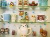 Assorted Vintage Owls (AquaOwl) Tags: vintage ceramic mugs mug teapot avon owls saltandpepper glasbake hazelatlas norcrest