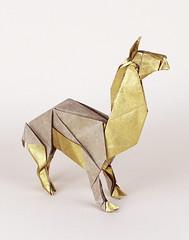 lama (nyanko sensei) Tags: animal origami lama kawahata fumiaki
