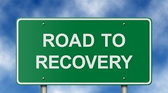 Road to Recovery Sign (CasitaIboga) Tags: road street sky green sign wall healthy highway message traffic market employment hiring alcoholism health freeway end positive trend exit alcoholic inspirational economic profit job financial economy addiction unemployed addict insurance recovery rehab hiway finance mortgage wellness turnaround hired recession upbeat foreclosure stimulus upturn