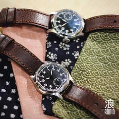 Ronin Slip-case (Philmon Yip) Tags: leather japanese singapore mechanical watches watch sakura cloth pilot fabrics sapphire ronin horology pilotwatches roninwatches