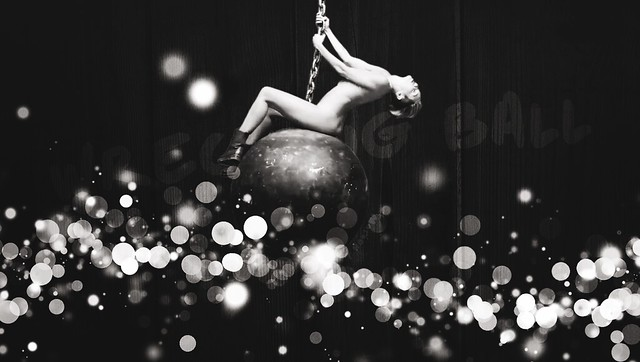 Wrecking Ball black and white