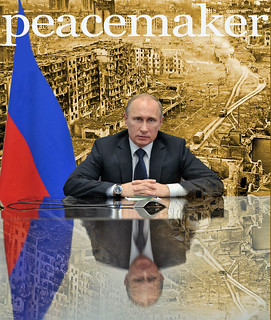 From flickr.com/photos/7141213@N04/10052160175/: Peacemaker Vladimir Putin