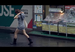 Time to Use That Hood (QuantumLogic (Slow)) Tags: street city people rain japan 50mm tokyo candid widescreen sony akihabara unposed cinematic a57 1650