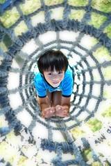 Joshua at airport park, Tokushima (daveweekes68) Tags: park boy net playground japan fun tokushima