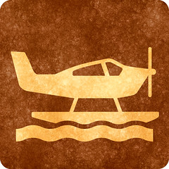 Sepia Grunge Sign - Sea Plane (Free Grunge Textures - www.freestock.ca) Tags: road street old travel sea brown travelling texture water sign yellow sepia corner plane vintage scrapbook scrapbooking square airplane grit drive design photo high beige driving traffic graphic image symbol decorative quality background aircraft air grunge transport stock grain decoration picture free craft gritty icon retro age transportation worn signage vehicle resolution recreation aged traveling grime deco distress res aging distressed rounded pictogram element seaplane resource symbolic textured grungy corners recreational pictograph grimy freestockca
