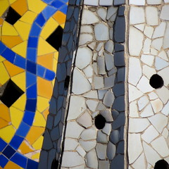 Palau Guell Chimneys (derek.dpr) Tags: barcelona chimney detail art architecture ceramic spain ceramics decorative architectural espana gaudi