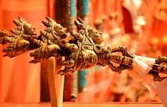 Arts and Crafts of Bhutan (pallab seth) Tags: metal stone bronze silver religious artwork asia bhutan antique crafts traditional religion arts culture buddhism carving paro windowdisplay handicrafts artisans ritualobjects parzo trzo zorigchosum lugzo