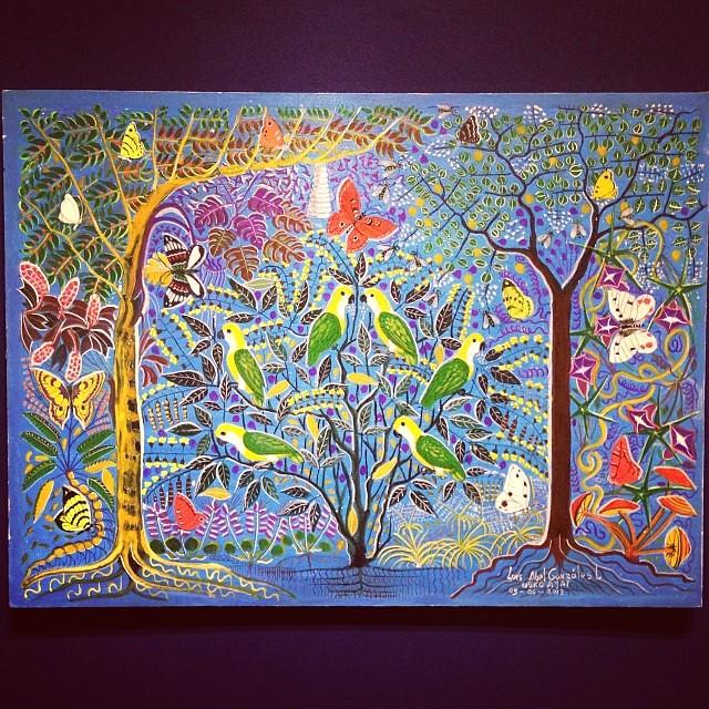 """Luis Abel Gonzales Laulate """"Usko Ayar"""" • """"La escuela de las Visiones"""" #art #arteenlima #artinlima #arte #artist #artista #painting #pintura"""