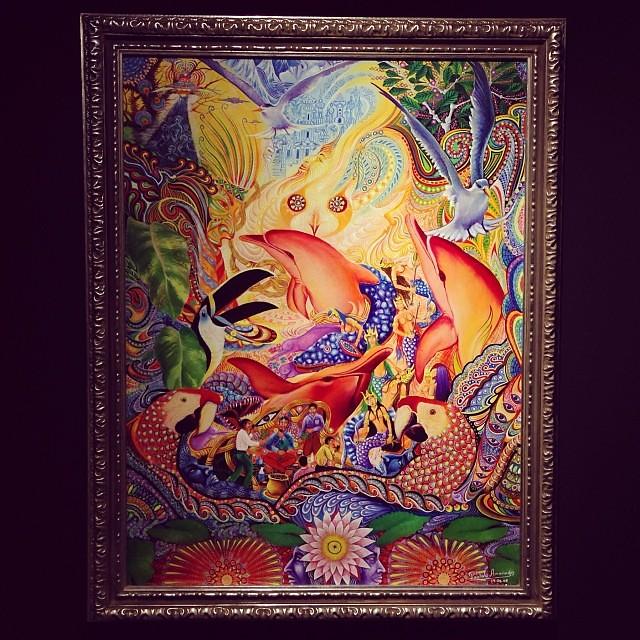 """Pablo Amaringo """"Usko Ayar"""" • """"La escuela de las Visiones"""" #art #arteenlima #artinlima #arte #artist #artista #painting #pintura"""