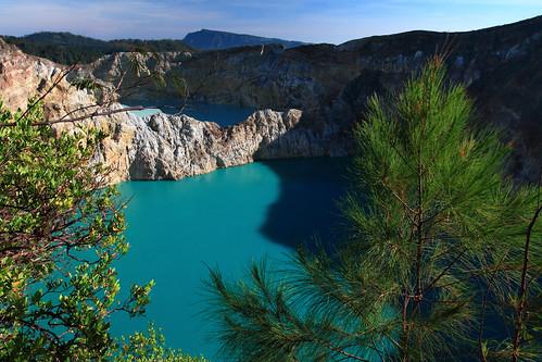Kelimutu Colored Crater Lakes