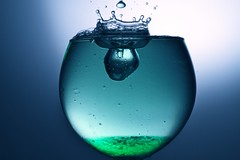 la goutte dans le vert (Fabrice Giroud) Tags: macro water eau drop liquid wather gouttes arduino blinkagain bestofblinkwinners blinksuperstars