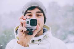 Hi, GoPro. (Luigi Pica) Tags: light portrait snow canon vintage 50mm nikon bokeh 14 neve nikkor