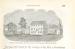 Image taken from page 433 of 'Historical Collections ... relating to the history and antiquities of every town in Massachusetts, with geographical descriptions. [With illustrations.]' (The British Library) Tags: bldigital date1839 pubplaceworcestermass publicdomain sysnum000194796 barberjohnwarner medium vol0 page433 mechanicalcurator imagesfrombook000194796 imagesfromvolume0001947960 lexngton middlesexcounty massachusetts buckmanstavern meetinghouse 1775 sherlocknet:tag=office sherlocknet:tag=year sherlocknet:tag=consider sherlocknet:tag=john sherlocknet:tag=england sherlocknet:tag=school sherlocknet:tag=origin sherlocknet:tag=general sherlocknet:tag=public sherlocknet:tag=william sherlocknet:tag=edward sherlocknet:tag=country sherlocknet:tag=water sherlocknet:tag=family sherlocknet:tag=reside sherlocknet:tag=county sherlocknet:category=landscapes