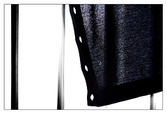 My blue cardigan (leo.roos) Tags: 50mm prime zebra vest railing cardigan challenge a7 helios week50 selectivecolour m39 dyxum 2013 fl50mm darosa mmz helios44582 russianlenses sovietglass focallenght50mm leoroos
