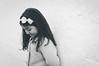 Shyness [+1] (marywilson's eye) Tags: blackandwhite bw white black cute blanco girl beautiful beauty look wall vintage hair pared lazo kid child julia negro shy andalucia retro niña linda bow bella mirada belleza marbella shyness vergüenza timida timidez vsco