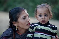 Nepal : Portraits #4 (foto_morgana) Tags: nepal portrait people youth outdoors eyes asia child character young earring jeunesse jewellery portret tikka jong jeugd jeune juventud doubleportrait tilak juwelen joaillerie persoonlijkheid karakter nomodelrelease caractre motherwithchild editorialonly joyria