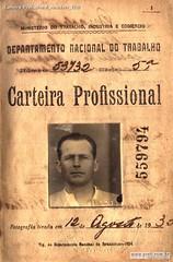 Carteira Profissional Anacleto 1930