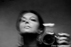 DSC_0026 (Daniela Mastrorocco) Tags: portrait woman white motion black mirror fotografia mosso nikond40