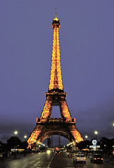 Eiffel Tower shot from the Gardens of Trocadero (Jardins du Trocadéro)