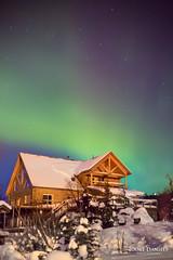 Purple glow (Joost Daniels) Tags: usa snow alaska night places anchorage various northernlight kelseyshouse auroraborealisairglow